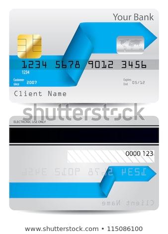 bent arrow ribbon credit card design stock photo © vipervxw