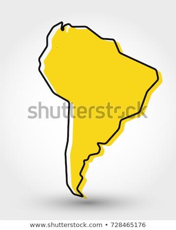Южной Америке карта стране компьютер Сток-фото © Volina