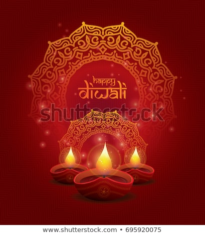 Stock photo: Vector beautiful diwali celebration brochure card template