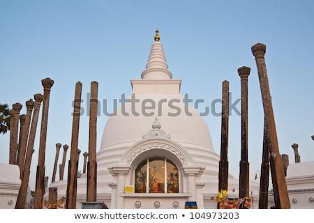 Famous buddhist temple in Anuradhapura Stock photo © Hofmeester