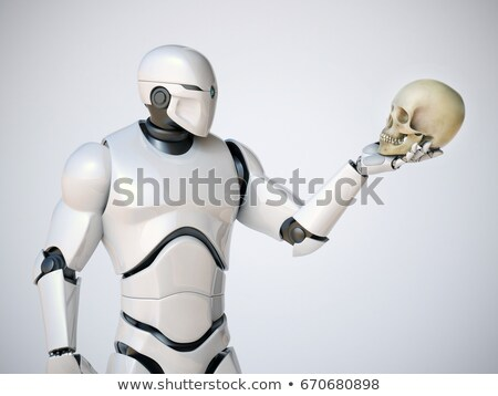 Robot holding human scull Stock photo © Kirill_M