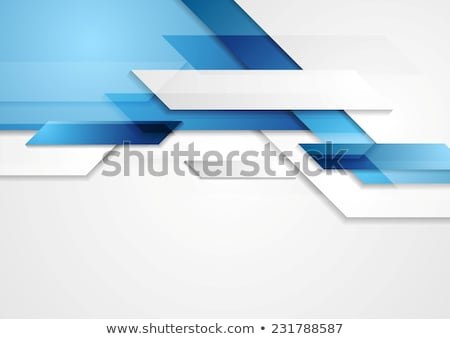Abstract Blue And Gray Banner. Stock photo © HelenStock