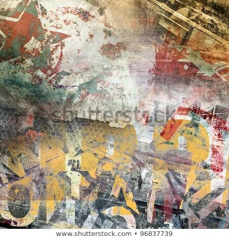 Stars And Red Grunge Background Stock photo © derocz