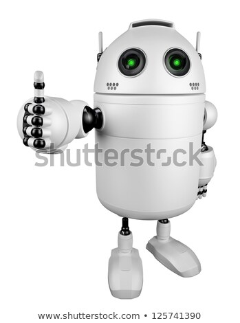 happy robot giving thumbs up stock photo © kirill_m