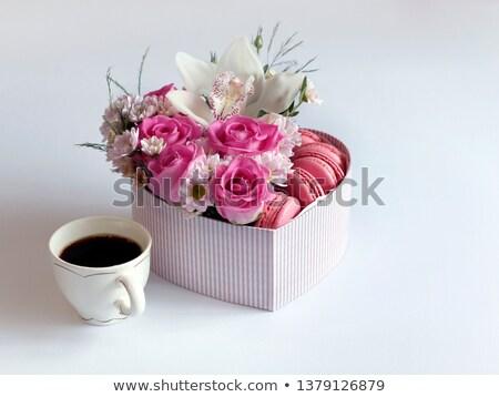 Сток-фото: шкатулке · розовый · орхидеи · белый · счастливым · дизайна