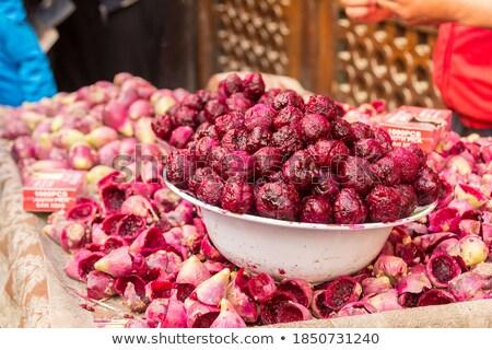 Maduro cactus frutas mercado Marruecos África Foto stock © haraldmuc