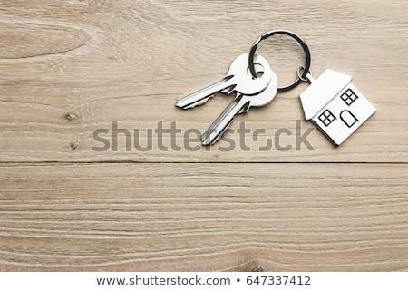 ключами таблице деревянный стол домой дома Сток-фото © Hofmeester