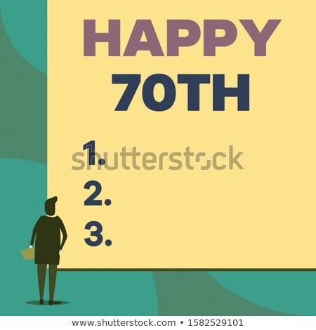 Back to 70th. Stock photo © Kurhan