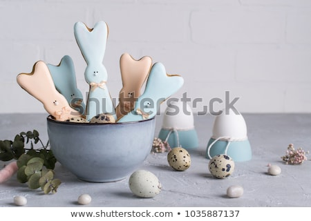 concrete dish with easter eggs stock photo © compuinfoto