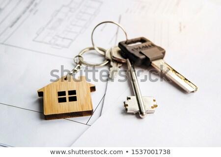 Touches plan architectural plan clé Photo stock © Tagore75