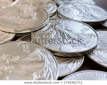 moedas · ouro · prata · cor · numerário · objeto - foto stock © eyeidea