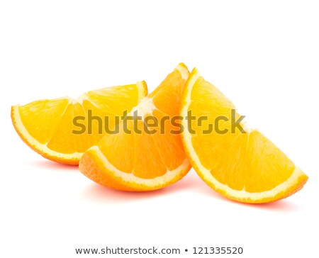 Three orange fruit segments or cantles  Stock photo © natika
