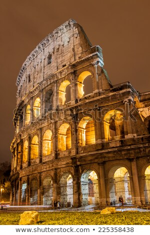 The Iconic, the legendary Coliseum of Rome, Italy Stock photo © bloodua