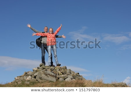 Walkers Standing On Pile Of Rocks stock photo © monkey_business