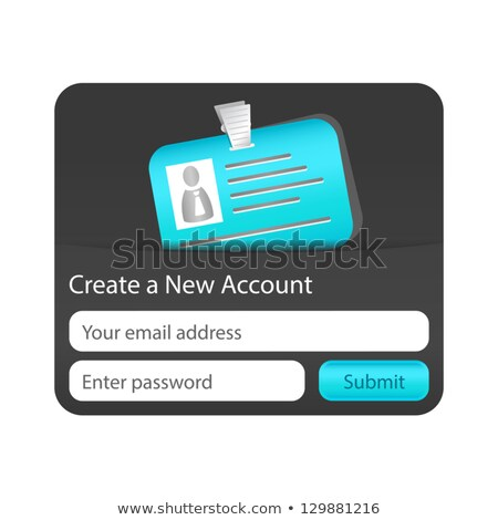 Create a new account form with light blue ID card. Element for websites and mobile applications Stock photo © liliwhite