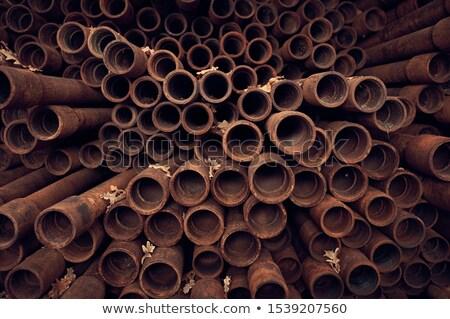 Rusty tubería desierto ciudad muerta metal Foto stock © dirkr
