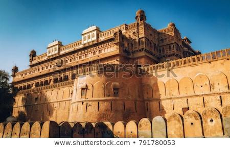 Fort stad Indië ontwerp kasteel architectuur Stockfoto © meinzahn