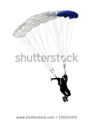 parachutist isolated Stock photo © OleksandrO