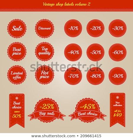 процент · Этикетки · используемый · розничной · дизайна · торговых - Сток-фото © mischoko