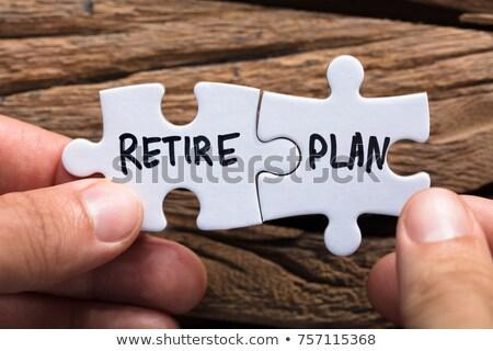 pensioen · plan · vergrootglas · business - stockfoto © lightsource