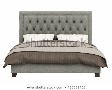 кровать изолированный мягкой текстуры фон Сток-фото © karammiri