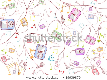 cool hand-drawn mp3 players Stock photo © oblachko