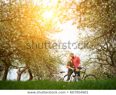spring kiss stock photo © lightsource