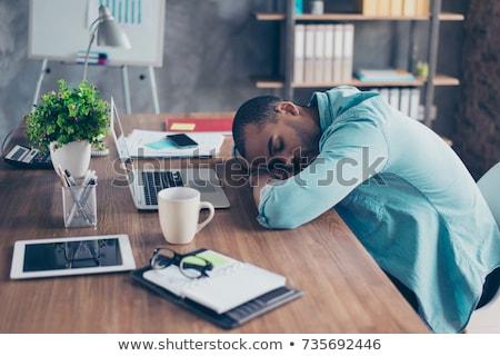 Man napping on laptop. Stock photo © iofoto