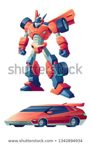 Strong futuristic toy robot Stock photo © anbuch