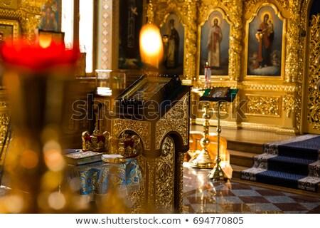 Готский · Церкви · интерьер · красивой · Барселона - Сток-фото © sirylok