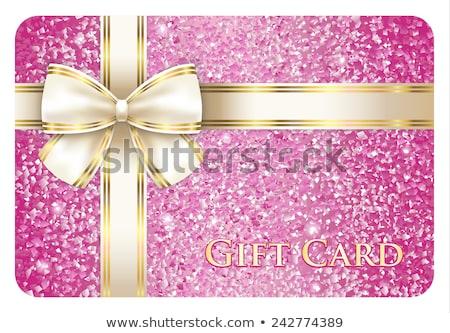 luxo · cartão · de · presente · creme · diagonal · fita · exclusivo - foto stock © liliwhite