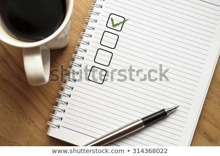 Recordatorio nota espacio de la copia papel en blanco corcho memoria Foto stock © stevanovicigor