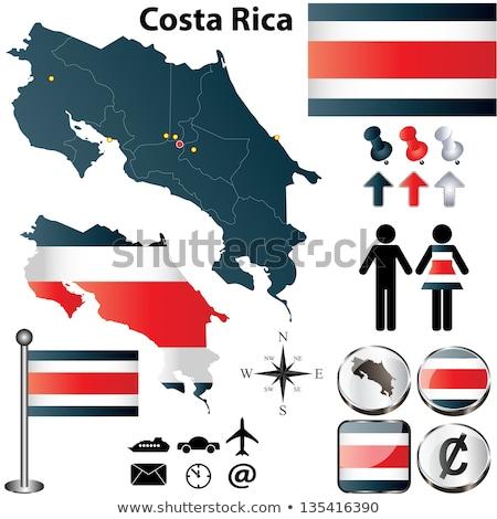 Mapa bandera botón república Costa Rica vector Foto stock © Istanbul2009