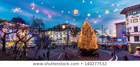 Stockfoto: Stad · centrum · ingericht · christmas · romantische · vakantie