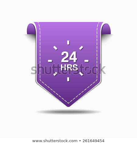 24 службе Purple вектора икона дизайна Сток-фото © rizwanali3d