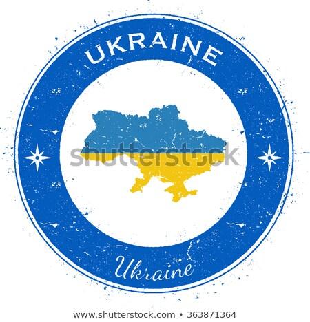 кнопки символ Украина флаг карта белый Сток-фото © mayboro1964