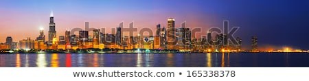 Chicago ufuk çizgisi göl Michigan Illinois ABD Stok fotoğraf © benkrut