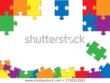 Peace - Text on Red Puzzles. Stock photo © tashatuvango