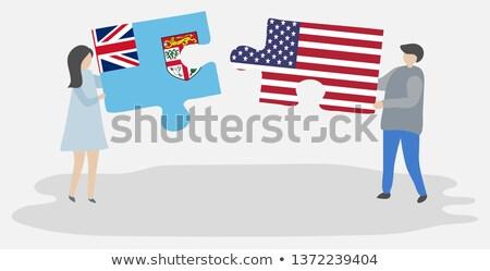 USA Fiji bandiere puzzle vettore immagine Foto d'archivio © Istanbul2009