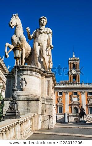 Statues of the Dioscuri on Piazza del Campidoglio in Rome, Italy Stock photo © vladacanon