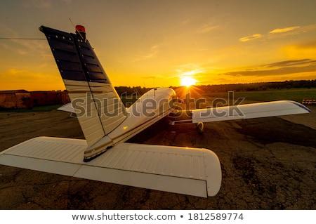 Coucher du soleil illustration homme silhouette Noël vacances Photo stock © adrenalina