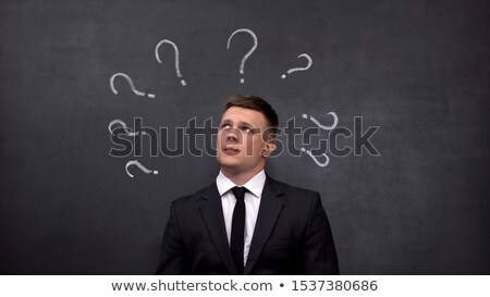 Confidence or Doubt written on a blackboard Stock photo © Zerbor