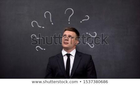 confidence or doubt written on a blackboard stock photo © zerbor