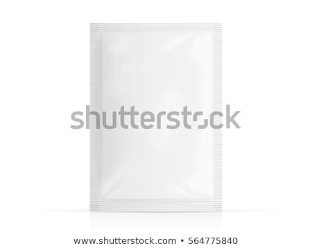 white sealed bag packing vector illustration Stock photo © konturvid