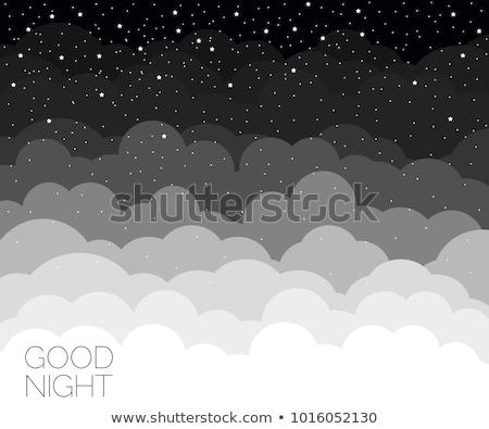 美しい 夜空 雲 良い 抽象的な 自然 ストックフォト © teerawit