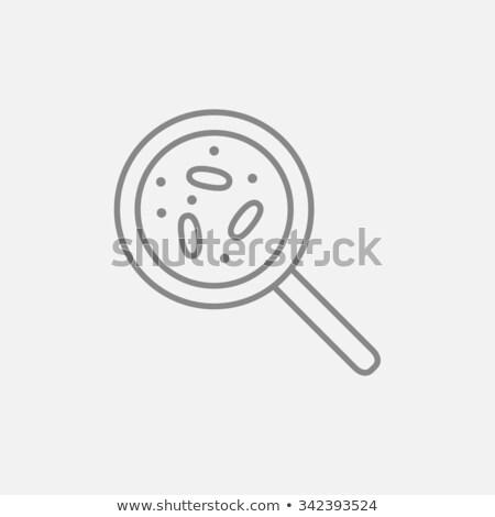 microorganism under magnifier thin line icon stock photo © rastudio