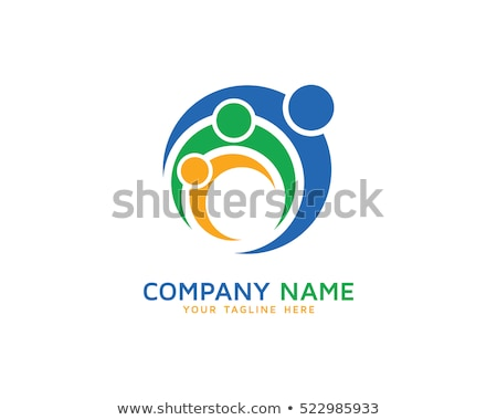 vector · logo · familie · abstract · teken · unie - stockfoto © blaskorizov