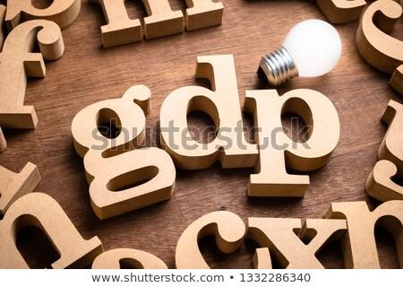 Közgazdaságtan szó szöveg monetáris mutat gazdaság Stock fotó © stuartmiles