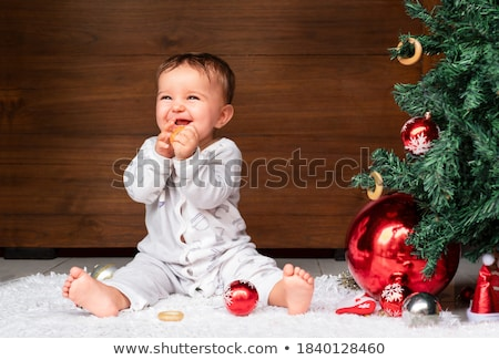 girl near christmas tree Stock photo © PetrMalyshev