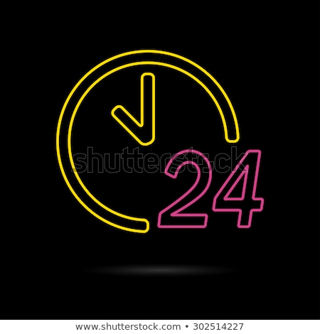 24 Hours Delivery Yellow Vector Icon Button Stock photo © rizwanali3d